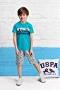U.S. Polo Assn. Lisanslı Erkek Çocuk Bermuda Takım Mavi